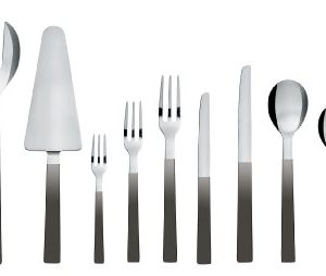 Alessi-Santiago-Hors-doeuvre-Fork-with-Black-handle-Set-of-6-Pieces-0-0