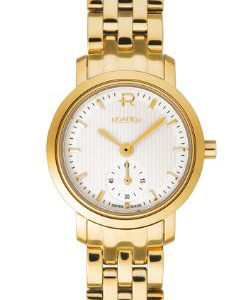 Roamer-Odeon-Womens-Quartz-Watch-with-White-Dial-Analogue-Display-and-Gold-Stainless-Steel-Bracelet-931855-48-15-90-0