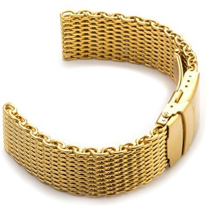 StrapsCo-18mm-Yellow-Gold-PVD-Shark-Mesh-Watch-Band-0