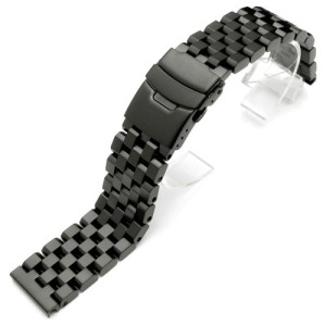 20mm-Super-Engineer-II-Solid-Stainless-Steel-Watch-Band-Push-Button-PVD-Black-0