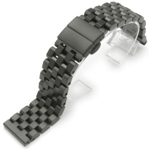 22mm-Super-Engineer-II-Solid-Stainless-Steel-Watch-Band-Deployant-Clasp-PVD-Black-0