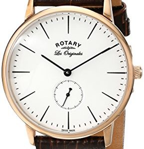 Rotary-Watches-Kensington-Mens-Quartz-Watch-with-White-Dial-Analogue-Display-and-Brown-Leather-Strap-GS9005302-0