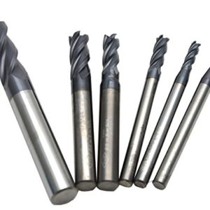 Wokesi-2-3-4-5-6-8mm-Cuttting-DiameterSquare-Nose-End-Mill-SetPack-of-6Std-Length4FlutesHRC45TiAlN-CoatedSolid-CarbideCNC-Router-Bits-Cutting-Milling-Tools-0